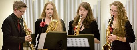 Christof (Sopransaxophon) - Maria (Baritonsaxophon) - Anna (Tenorsaxophon) - Anna-Lena (Alt-Saxophon)