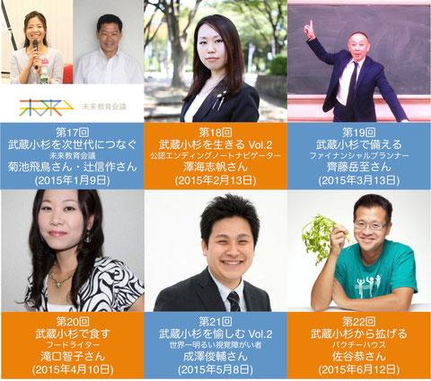 2015年上期の開講スケジュール