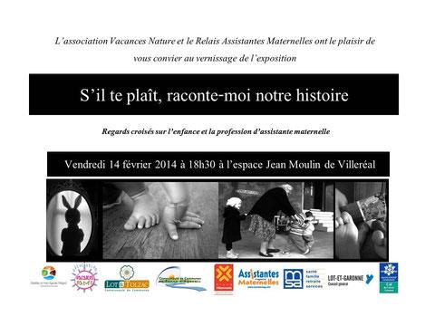 Vernissage de l'exposition à Villeréal