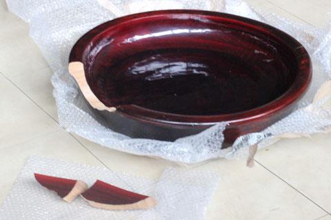 破損したこね鉢