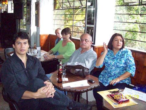 Fernando Meneses, Lilián Bonilla, Jairo Alarcón, Gloria Vásquez y Francisco Duque