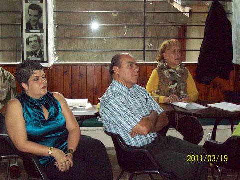 Ruth García, Javier Ocampo e Irma Ocampo