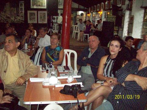 Mario Vélez, Nora Alméciga, Chepe Rúa y Diana, la bailarina