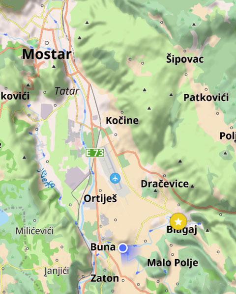 Zelten in Bragaj, Ausflug nach Mostar