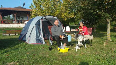 Auf dem Campingplatz bei Bihac