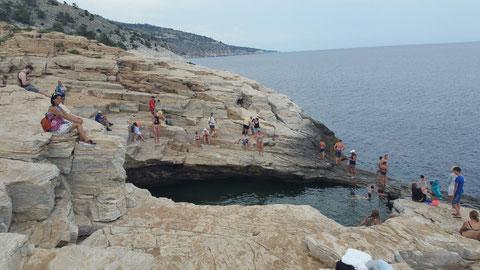 Giola, der Felsenpool