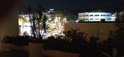 Blick vom Hotelbalkon in Kos