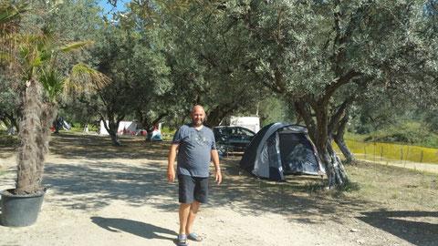 Auf dem Camping Borsh