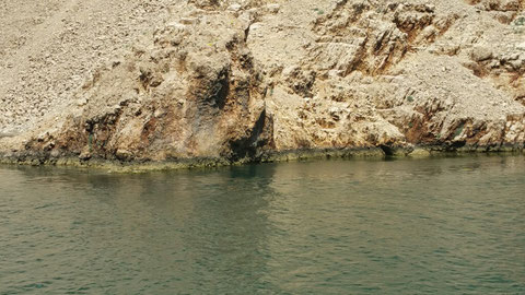 """Wenn ich es mir richtig gemerkt habe... Stand hier der Totem-Pfahl aus """"Winnetou I"""" den Old Shatterhand vor Winnetous Vater Intschu-tschuna erreichen sollte (oder auch nicht - kommt auf die Betrachtungsweise an...). Die damalige Landzunge liegt mittlerweile 1m unter Wasser."""