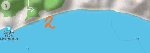 Der lange Strand von Develiki