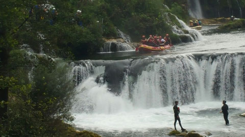 Die Weicheier nehmen nur den kleinen Wasserfall