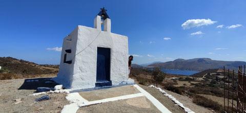Der Sturm pfeift auch um die Kapelle Prophitis Ilias