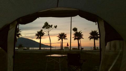 Blick aus dem Zelt...