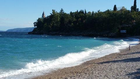 Am Strand von Medveja