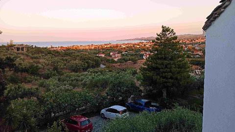 Blick vom Balkon auf Nikiti