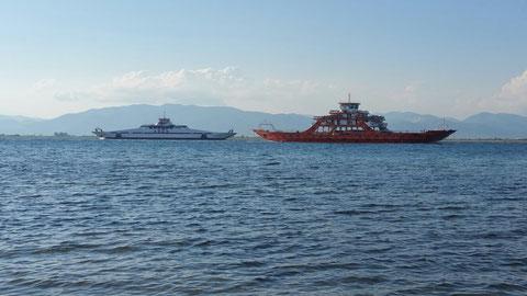 Zwei Thassos - Fähren