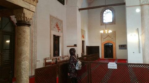 In der Moschee - die Vermummte ist Inge...