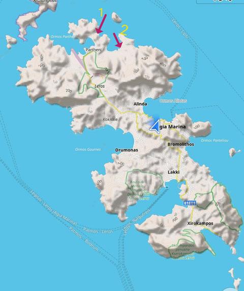 Die Buchten bei Partheni