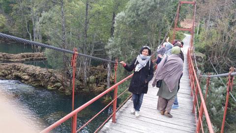 """Touristen an den Wasserfällen """"Mali Brod"""""""