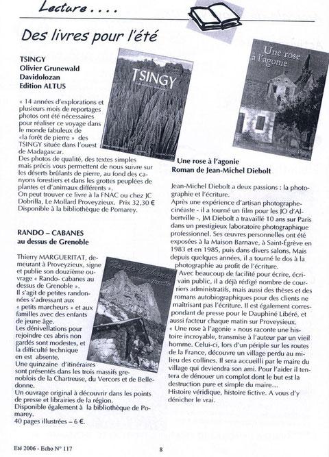 L'ECHO de Proveysieux (38120) - été 2006