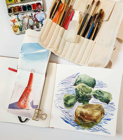 landschaften malen, Aquarell, malen lernen, Aquarell malen lernen, kostenlose Aquarellanleitung, wie man mit Aquarellfarben malt, wasserfarben, Malreise, nature sketching, urban sketching, mityoudesignmemalenlernen, Aquarellkurs, Malkurs