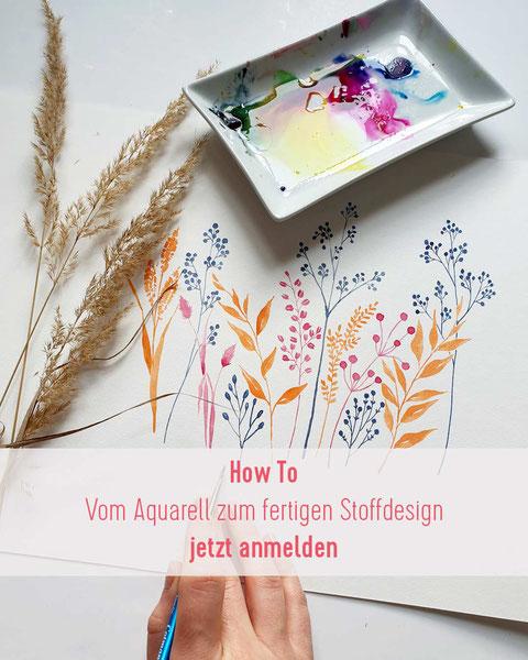 Anleitung, Muster erstellen, nahtlose Muster, Muster Challenge, wie man nahtlose Muster erstellt, Stoffmuster entwerfen, Spoonflower Contest, Wildgräser
