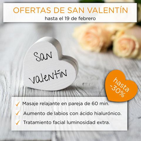 oferta san valentin dia de los enamorados masaje para dos aumento de labios luminosidad