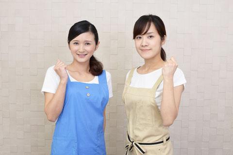 集客チラシに載せるスタッフと店長の顔写真