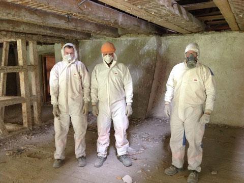 Die staubfesten Männer der Bauunternehmung Fust