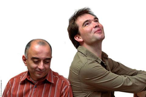 Sabin Todorov à gauche et Bernard Guyot, à droite.