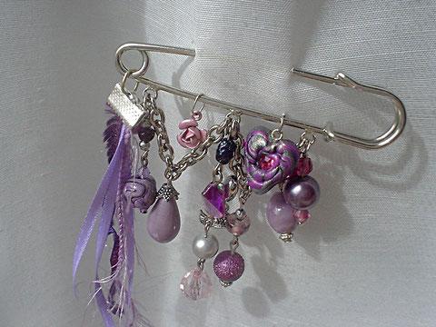 "Epingle broche "" Purple Rain"" (vendu)"