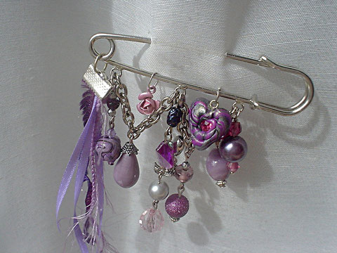 "Epingle broche "" Purple Rain"" (vendu)"