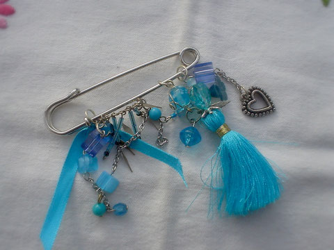 "Epingle broche "" Lagon bleu"" (vendu)"