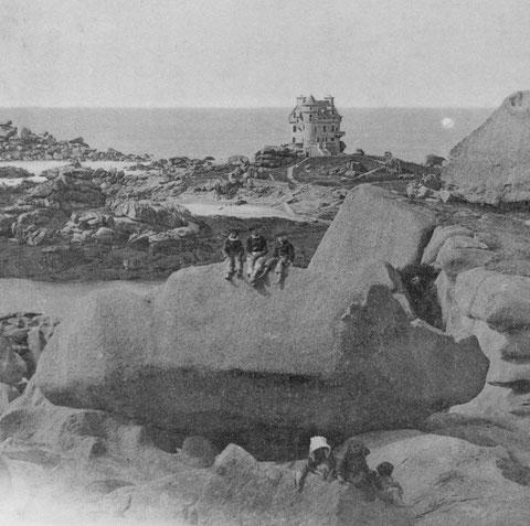 L'ile de Costaéres vers 1896, la construction du château est terminé