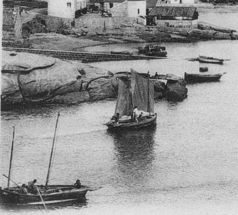 Entrée du port de Ploumanac'h vers 1910