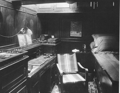 La luxueuse cabine de Etienne et Monique de Ganay