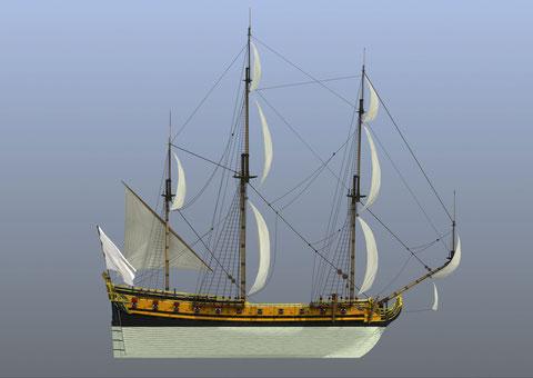 Reconstitution de la Dauphine 1702