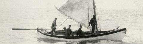 Baleinière américaine, on imagine la traversée du capitaine Duval avec 5 hommes sur plus de 600 miles (photo, new-Bedford museum)