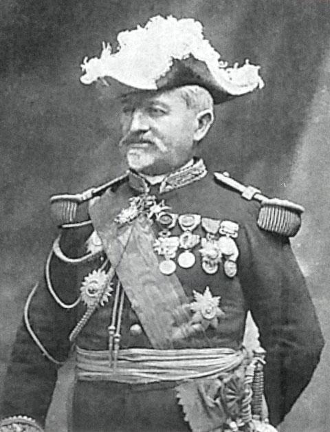 Le vice amiral Cavelier de Cuverville
