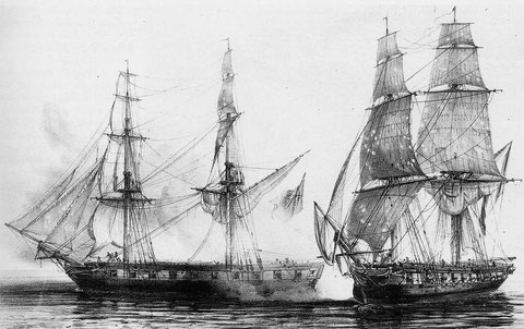 Capture du brick anglais Alacrity  par le brick Français Abeille- 26 mai 1811  en Corse, le brick Alacrity était de taille et d'armement semblable à le Scylla, avec ses 20 caronades de 32, le brick l'Abeille était autrement plus fort que la canonnière