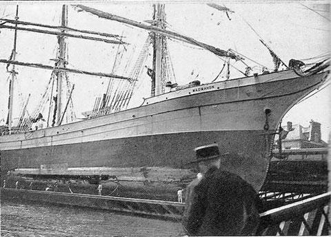 Le Mac Mahon sur le dock de Chantenay en 1898