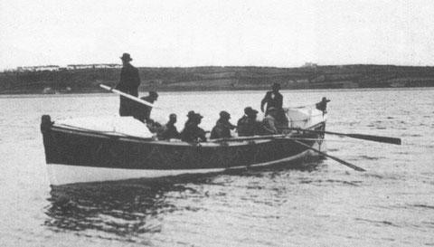 Le canot de sauvetage Amiral Mallet (Athanase) lors d'une sortie d'entrainement
