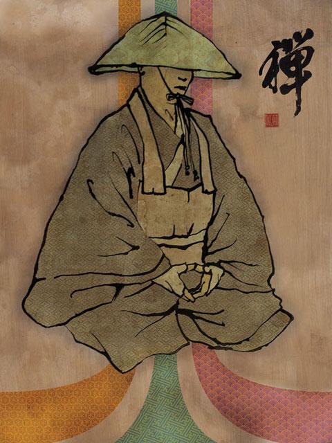 L'ultime preuve : la couleur du tannage des misaines des canots trégorois est semblable à celle de l'habit des moines zen