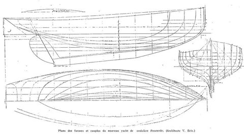 Plan des formes du « Roscovite » de Victor Brix