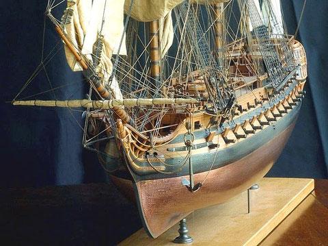 Modèle d'arsenal  d'un vaisseaux de 74 canons par Gérard Delacroix