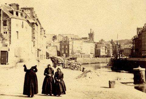 Magnifique photo de Morlaix par  Furne et Tournier en 1857 (Collection Archives départementales du Finistère)
