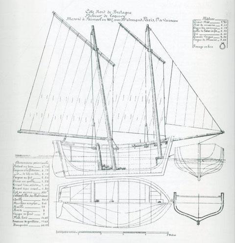 Lougre de Loguivy Plan de l'Amiral Paris