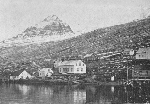 Le faskrudsfjord à l'est de l'Islande, était très fréquenté, jusqu'en 1922, par les goélettes pour décharger leur première pêche dans les navires chasseurs et recharger du sel pour la seconde pêche