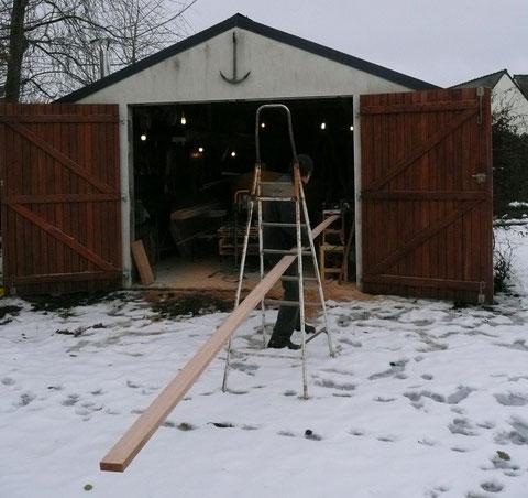 C'est en décembre 2010, il neige dans les Côtes d'Armor