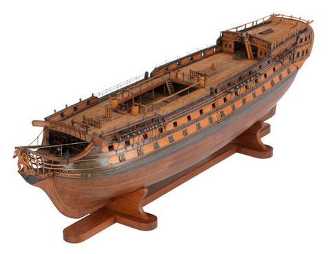 Modèle d'époque du vaisseaux de 74 canons français  Éole 1789 National Maritime Museum
